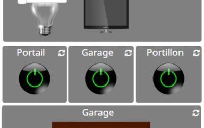 Commander ses éclairages, sa porte de garage, sa télévision …